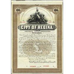 Canada. City of Regina Bond