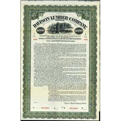 Canada. Davison Lumber Co. Ltd Bond