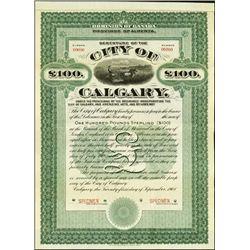 Canada. Debenture of the City of Calgary Bond