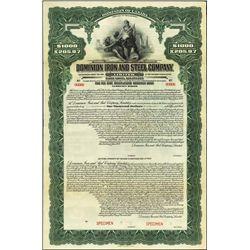Canada. Dominion Iron and Steel Co. Ltd. Bond