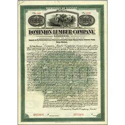 Canada. Dominion Lumber Co. Ltd. Bond
