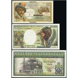 Africa. Miscellaneous Banknote Assortment.