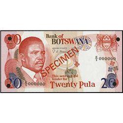 Africa. Spec. Banknotes - Botswana, Swaz. & Ugand