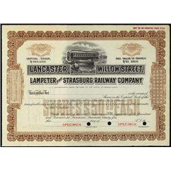 PA. Lancaster Willow St., Lampeter & Strasburg Rw