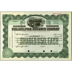 Pennsylvania. Philadelphia Railways Co..