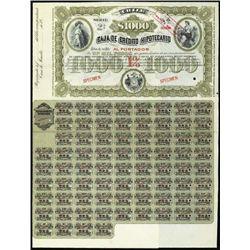 Chile. Caja de Credito Hipot Bonds W/ Reaper Vign
