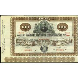 Chile. Caja De Credito Hipotecario Bond Quartet