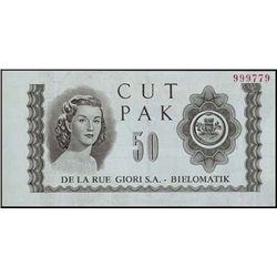 Brazil. DLR Ad Note-Face, Casa Da M.Do Brasil-Bac