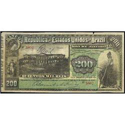 Brazil. Ban. da Rep. D.E.U.  Brazil Counterfeit B