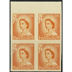 New Zealand. 1953-58 Queen Elizabeth II Imperf Pr