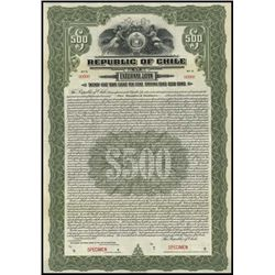 Chile. Republic of Chile External Loan Bond Trio