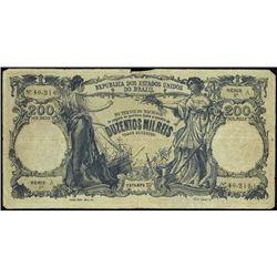 Rep. Dos Est. Unidos Do Brazil Counterfeit Bankno