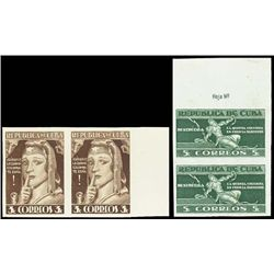 Cuba. 1943 5th Column Issue TC Prf Pairs