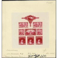 """U.S. ABNC """"Specimen"""" Stamp Sheetlet of 8 Prfs"""