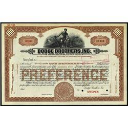 Maryland. Dodge Brothers, Inc.