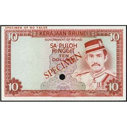 Brunei. Government of Brunei Specimen Banknotes.