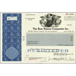 New York. The Bear Sterns Companies Inc.