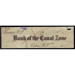 Canal Zone. Bank of the Canal Zone.