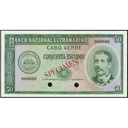 Cape Verde. Banco Nac. Ultramarino Cabo Verde TC