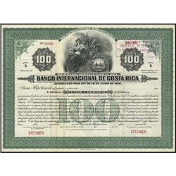 Costa Rica. Banco Internacional de Costa Rica Bon