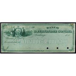 Chile. Banco D.Fernandez Concha Specimen Check.