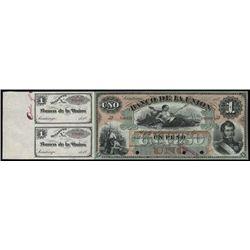 Chile. Banco De La Union Banknote Specimen Bankno