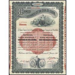 Cuba. Banco Espanol de la Isla de Cuba Bond