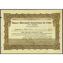 Cuba. Banco Mercantil Americano de Cuba