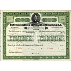 Cuba. Central Lincoln Compania Azucarera S.A..