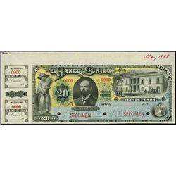 Chile. El Banco de Curico Specimen Banknote
