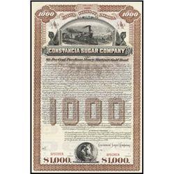 Cuba. Constancia Sugar Company Bond