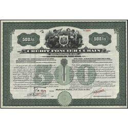 Credit Foncier Cubain, Banco Terr. de Cuba Bond P