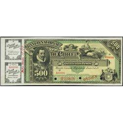 Chile. El Banco Nacional de Chile Specimen Bankno