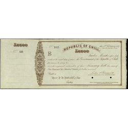 Chile. Republic of Chili Treasury Bill Specimen