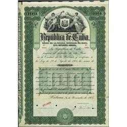 Cuba. Republica de Cuba Bond