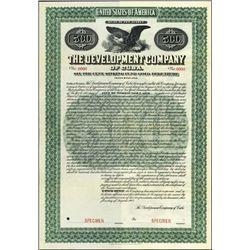 Cuba. The Development Company of Cuba Bond