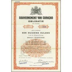 Curacao. Gouvernement Van Curacao Obligatie Bonds