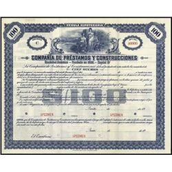 Ecuador. Comp. de Prestamos Y Const. Bond Trio