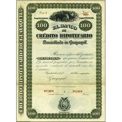 Ecuador. El Banco De Credito Hipotecario Bond Tri