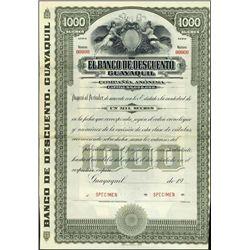 Ecuador. El Banco De Descuento Guayaquil Bond Pai