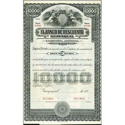 Ecuador. El Banco de Descuento Guayaquil Bond Tri