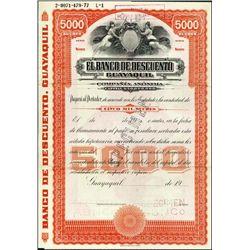 Ecuador. El Banco de Desc. Guayaquil Bond Quartet