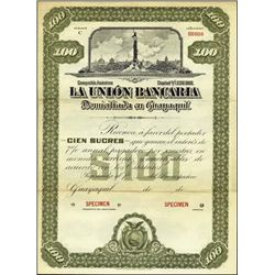 Ecuador. La Union Bancaria Bond Pair