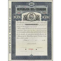 Ecuador. Rep. del Ecuador Specimen Bond Assortmen