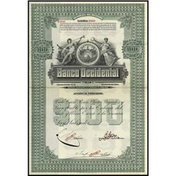 El Salvador. Banco Occidental Bond