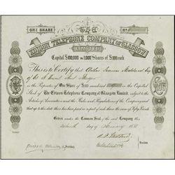England. Edison Telephone Company of Glasgow