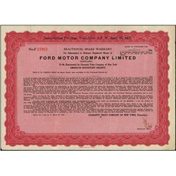 England. Ford Motor Company Limited (England).