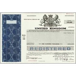 England. United Kingdom Government Bonds.
