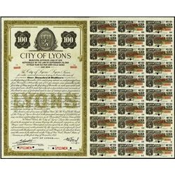 France. City of Lyons Bonds