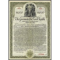 France. Government of the French Republic Bond